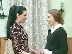 Good dark-haired gal starts behave utterly badly when she feels friend's wet honey pot