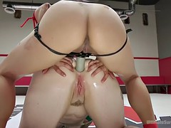 barbary rose gets fisted and straponed by asian mistress mia li
