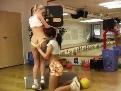 Japanese teen bdsm full length Cindy and Amber smashing each