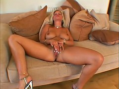 Smoldering Hot Bev Cocks solo masturbation