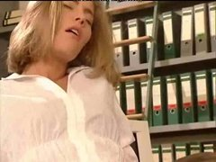 German Office Lesbians Playing With Bananas And Cucumbers lesbian girl on girl lesbians