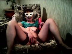 on webcam