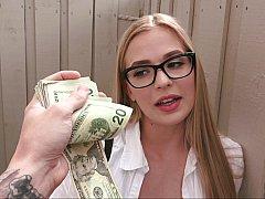 Amerikanisch, Blasen, Geld, Im freien, Pov, Öffentlich, Muschi, Ablutschen