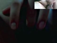 Curvy teen Melinda teases and masturbates on cam