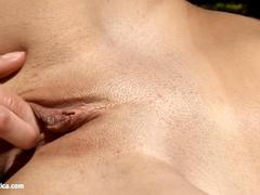 Wild Seduction with Natie and Angelina having orgasms outdoors