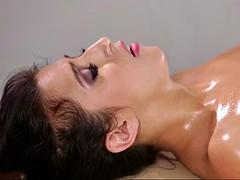 masseuse jenna sativa licks april o'neil's fluffy pussy