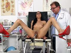 brunette doctor gaping and cumshot feature movie 1