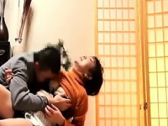 Luscious Japanese milf with a fabulous ass has fun with a y
