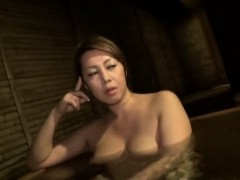 Japanese MILF fucked in hairy clit