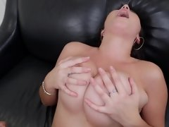 Latina with fine natural boobs is getting a really good titfuck