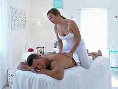 Blair Williams offering a hot massage