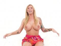 Watch Brooke get naughty in her fun summer dress