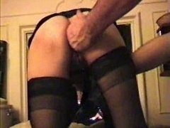 Fisting sex asshole in stockings