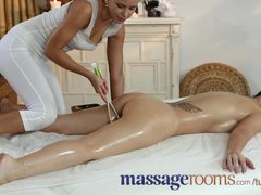 Massage Rooms Cute British lesbian has G-spot orgasm with Czech beauty