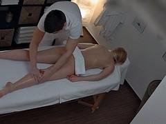Czech Hot Blonde Enjoys Fucking on Massage Table