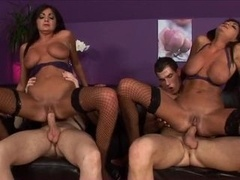 British Woman twins in anal action