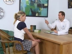 Two kinky girls are getting fucked in the doctors office