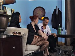 Latina gets her pantyhose ripped
