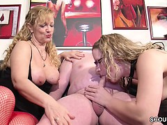 German Husband Get Big Suprise and First Threesome