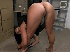 18 ans, Amateur, Cul, Souple, Masturbation, Bureau, Maigrichonne, Serré
