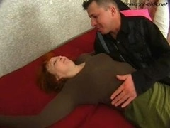 Drunk mother seduced and furthermore fucked hard by young-looking flag pole