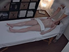 Sexy Redhead Rammed On Massage Table