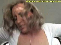White Cougar Fucked By Black 18-19 y.o.