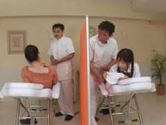 Asiatisch, Japanische massage, Massage