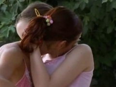 sapphic adore story outside on the bench