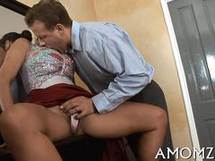 Ripe babes mind blown by young pussy licking lover