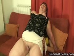 A couple of guys lure aged plumper