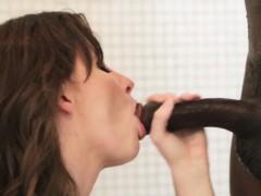 Teen showered in bbc cum