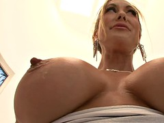 luscious milf brandi love loves demonstrating her ginormous breasts