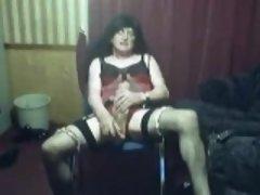 Amateur, Lencería, Masturbación, Transexual, Solo, Medias largas, Juguetes, Camara web