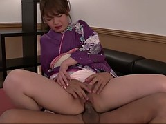 geisha in a kimono eri hosaka gets fucked and fingered in cfnm clip