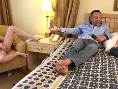 Marley Matthews creampied and her husband clean it