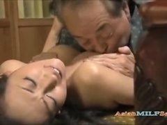 Soccer mom Getting Her Vag Licked Fingered Sucking cock For Aged Husband On The Mattress In The Roo