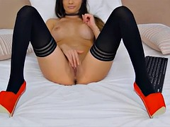sexy karinnaxx with stockings and heels