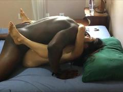 Black dude destroys his first MILF neighbour and moans heavily