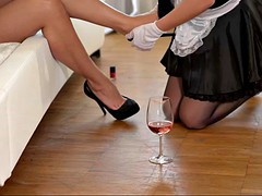 submissive housemaid lindsey olsen gets spanked by mean euro babe zafira