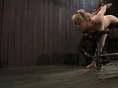 captive blonde sucks off & gets nailed
