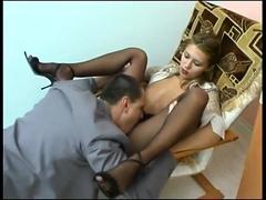 The tempting secretary!