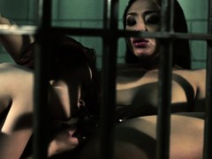 Pussylicked lezdom fingerfucked in jail