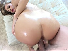 sydney cole takes fat cock doggystyle as her ass glistens