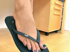 Janice Griffith flip flop dangle