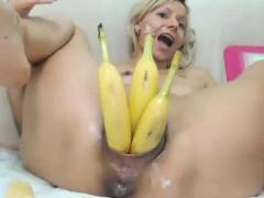 Amateur, Blonde, Pénétrer avec le poing, Solo, Webcam