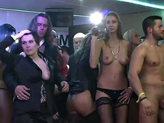 sexy ladies have fun fucking in a party clip