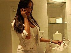 Erstaunlich, Braunhaarige, Weibliche domination, Absätze, Hotel, Latex, Lingerie, Titten