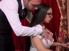 Piano playing beauty prefers getting fucked by a big dick