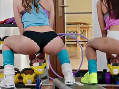 Sweat gym lesbians had sex